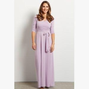 NWT Pinkblush 3/4 Lavender Surplice Maxi M